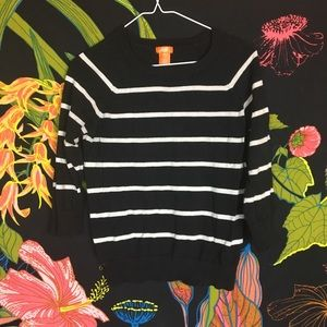 JOES / BW STRIPED SWEATSHIRT SWEATER